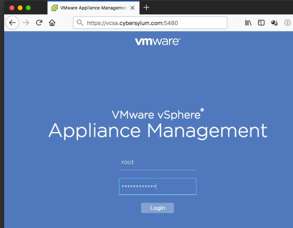 Back up the vCenter Server Appliance - Cybersylum