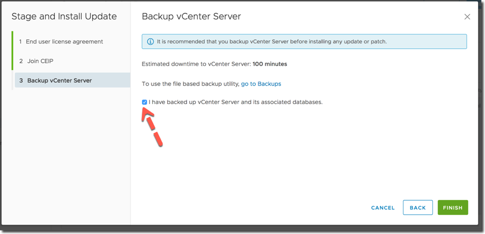 vCenter Server Appliance 6 7 Update function may not list