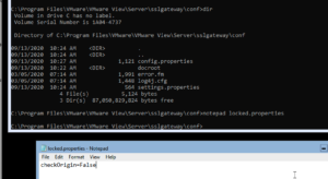 checkOrigin setting in the locked.properties file