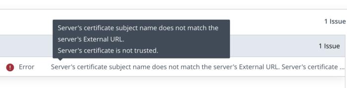 Horizon Certificate does not match External URL